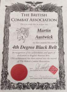 4th Degree Black Belt
